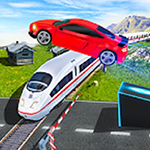 Marvelous Highway Car Stunt Ramp Car Stunt Race