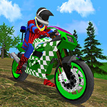 Motorbike Stunt Super Hero Simulator